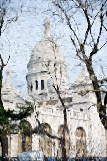 Sacre C?ur Basilica - In the Style of Oil Painting-Philippe Hugonnard-Giclee Print