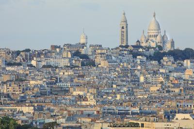 Sacre Coeur and Montmartre Seen from Arc De Triomphe. Paris. France-Tom Norring-Photographic Print