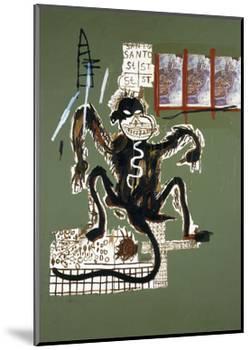 Sacred Ape-Jean-Michel Basquiat-Mounted Giclee Print