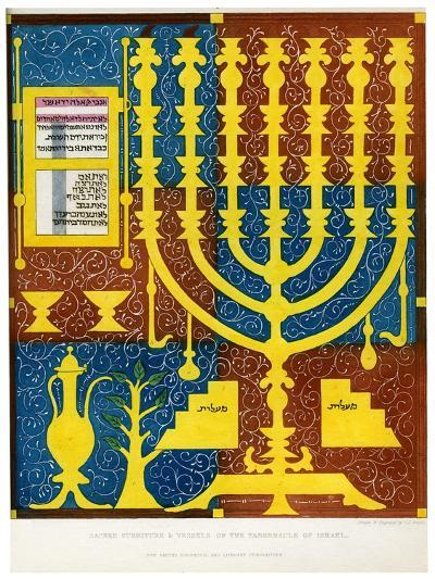 Sacred Furniture and Vessels of the Tabernacle of Israel, 15th Century-CJ Smith-Giclee Print