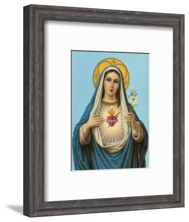 Sacred Heart of Mary--Framed Art Print