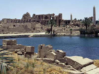 Sacred Lake, Temple of Amun, Karnak, Luxor, Thebes--Photographic Print