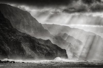 Sacred Light and Mist at Na Pali Coast, Kauai Hawaii-Vincent James-Photographic Print