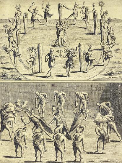 Sacred Rites of Native Canadians-Joseph-Francois Lafitau-Giclee Print