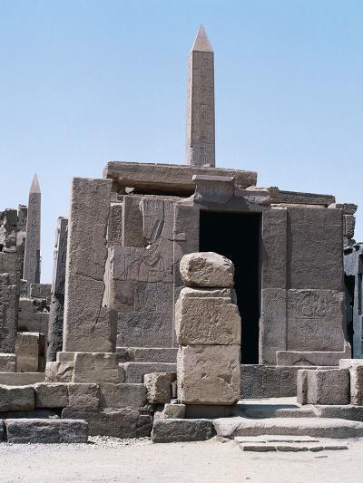 Sacred Shrine of Boats and Obelisks of Hatshepsut, Karnak Temple Complex--Photographic Print