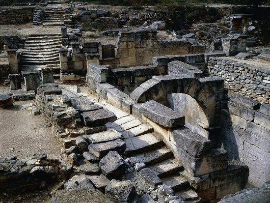 Sacred Spring in Ruins of Glanum, Saint Remy De Provence, France BC--Giclee Print