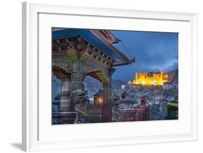 Sacred Wheel and the Palace-Guido Cozzi-Framed Photographic Print