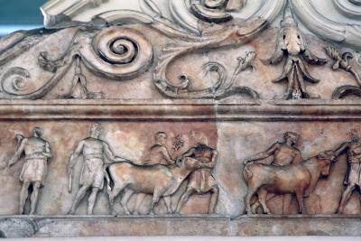 Sacrifice Scene on the Ara Pacis, Rome--Photographic Print