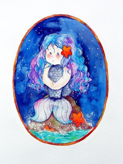 Sad Little Mermaid-Maylee Christie-Giclee Print