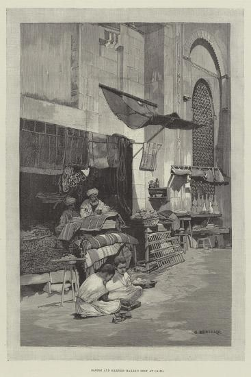 Saddle and Harness Maker's Shop at Cairo-Charles Auguste Loye-Giclee Print