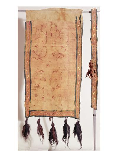 Saddle Blanket Covered with Chinese Silk, 5th- 4th Century BC (Wool, Silk, Gold and Leather)- Altaic-Giclee Print