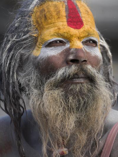 Sadhu, Shivaratri Festival, Pashupatinath Temple, Kathmandu, Nepal-Jane Sweeney-Photographic Print