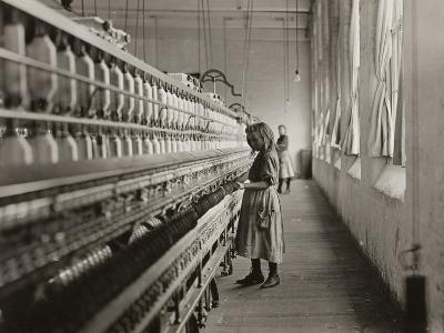 Sadie Pfeifer, a Cotton Mill Spinner, Lancaster, South Carolina, 1908-Lewis Wickes Hine-Photographic Print