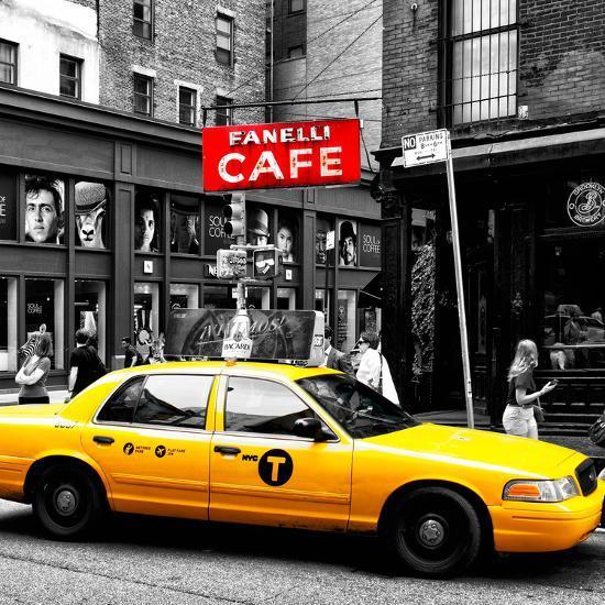 Safari CityPop Collection - New York Yellow Cab in Soho IV-Philippe Hugonnard-Photographic Print