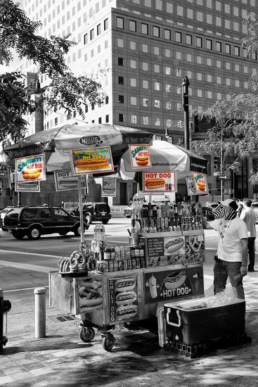 Safari CityPop Collection - NYC Hot Dog with Zebra Man-Philippe Hugonnard-Photographic Print