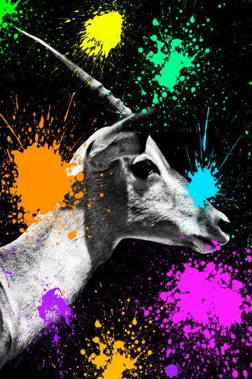 Safari Colors Pop Collection - Antelope Profile II-Philippe Hugonnard-Giclee Print