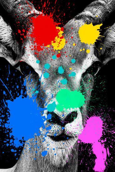 Safari Colors Pop Collection - Antelope Reedbuck II-Philippe Hugonnard-Giclee Print