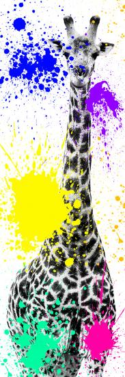 Safari Colors Pop Collection - Giraffe X-Philippe Hugonnard-Giclee Print