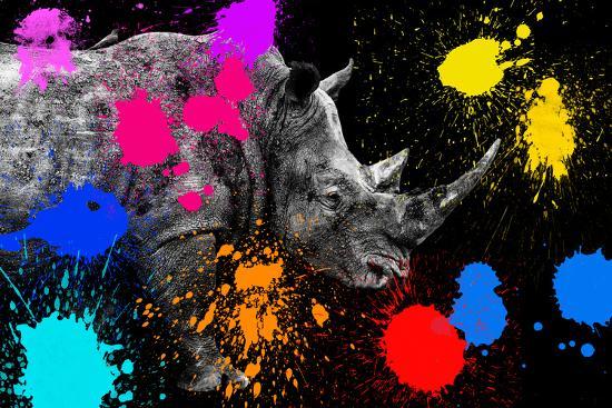 Safari Colors Pop Collection - Rhino II Giclee Print by Philippe Hugonnard  | Art com