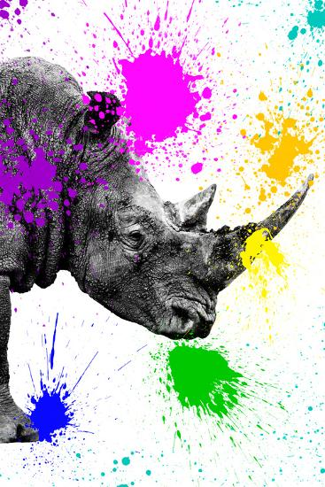 Safari Colors Pop Collection - Rhino Portrait IV-Philippe Hugonnard-Giclee Print