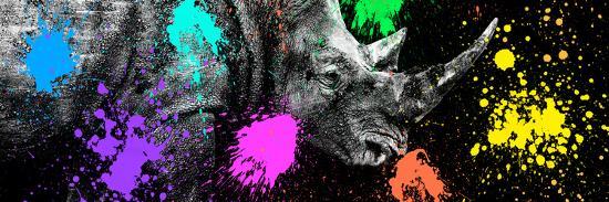 Safari Colors Pop Collection - Rhino Portrait VI-Philippe Hugonnard-Giclee Print