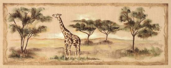 Safari Giraffe-Ann Brodhead-Art Print