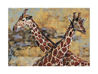 Safari Giraffes-Madelaine Morris-Premium Giclee Print