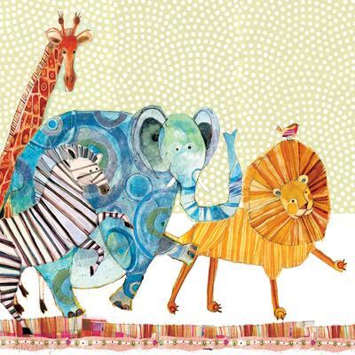 Safari Parade-Robbin Rawlings-Premium Giclee Print