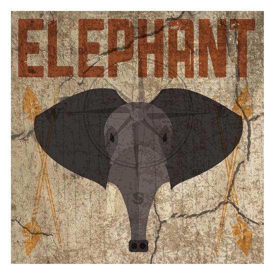 Safari Set 3 Elephant-Melody Hogan-Art Print
