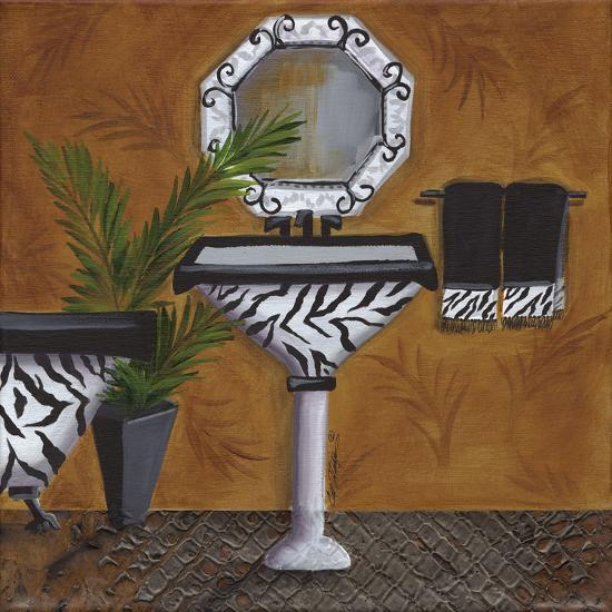 Safari Sink in Zebra-Cat Heartgeaves-Art Print