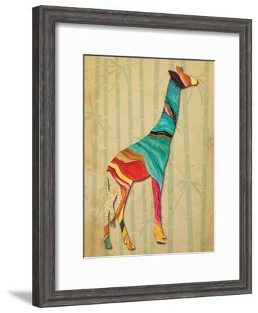 Safari Stripes 1-Melody Hogan-Framed Art Print