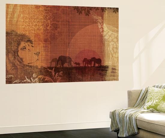 Safari Sunset II-Tandi Venter-Wall Mural