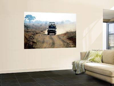Safari Vehicle Kicking Up Dust-Mark Daffey-Wall Mural