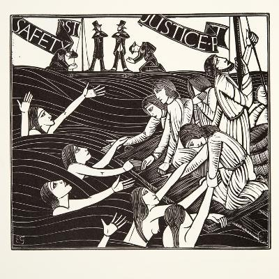 Safety First, from 'The Labour of Women', 1924-Eric Gill-Giclee Print
