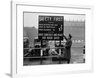 Safety First--Framed Photographic Print