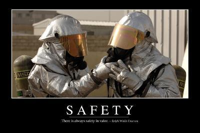 Safety: Inspirational Quote and Motivational Poster--Photographic Print