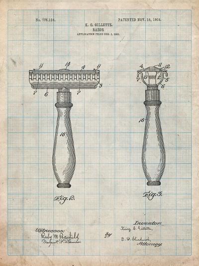 Safety Razor Patent-Cole Borders-Art Print