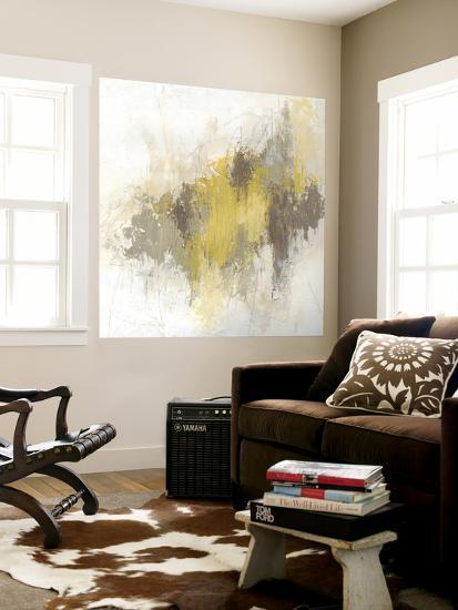 Saffron Abstract I-June Erica Vess-Wall Mural