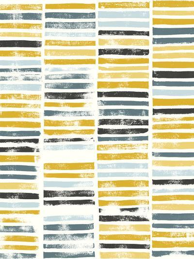 Saffron Block Print II-Grace Popp-Art Print