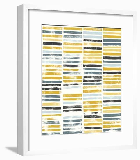 Saffron Block Print II-Grace Popp-Framed Art Print
