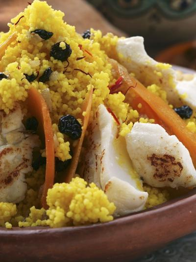 Saffron Couscous with Fish, Carrots and Raisins (N. Africa)--Photographic Print