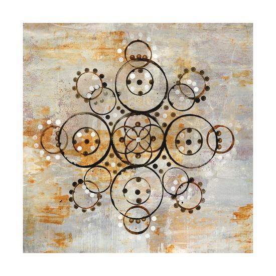 Saffron Mandala I Crop-Melissa Averinos-Art Print