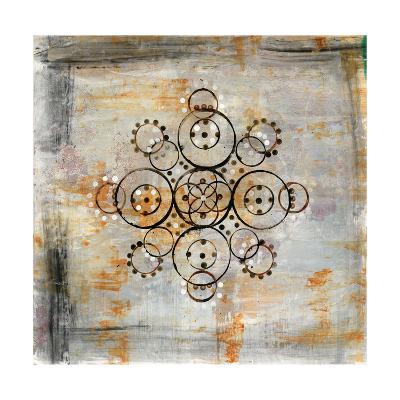 Saffron Mandala I-Melissa Averinos-Art Print