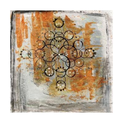 Saffron Mandala II-Melissa Averinos-Art Print