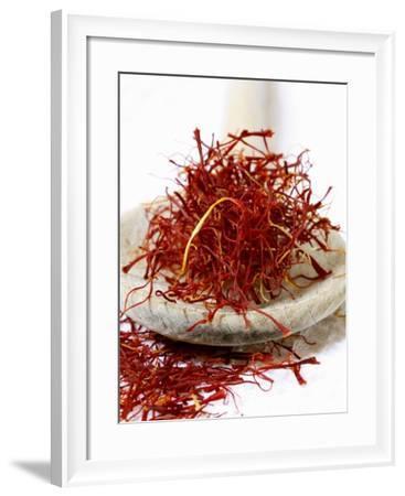 Saffron Threads on a Wooden Spoon-Frank Tschakert-Framed Photographic Print