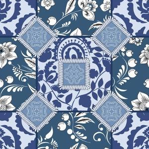 Vector Seamless Patchwork Pattern. Oriental or Russian Design by safonova tatiana