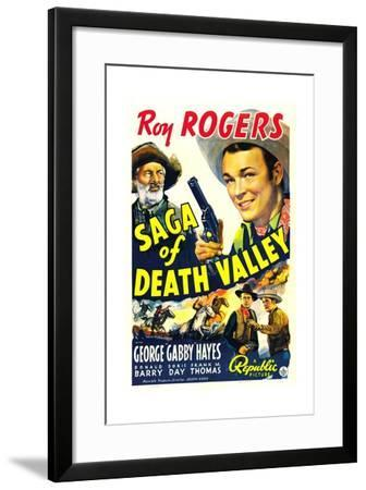 SAGA OF DEATH VALLEY, top from left: George 'Gabby' Hayes, Roy Rogers, 1939.--Framed Art Print