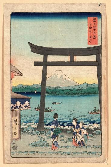Sagami Enoshima Iriguchi-Utagawa Hiroshige-Giclee Print