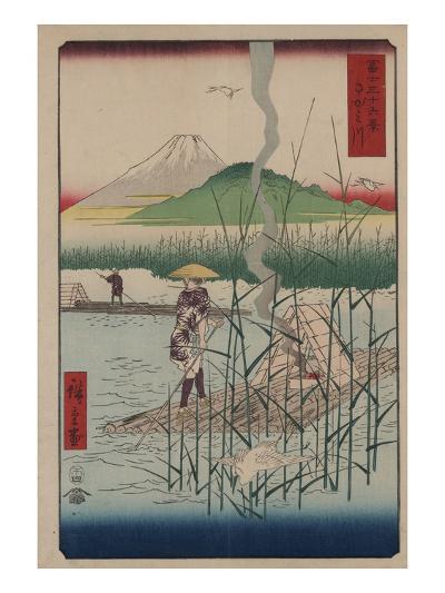 Sagami River-Ando Hiroshige-Giclee Print