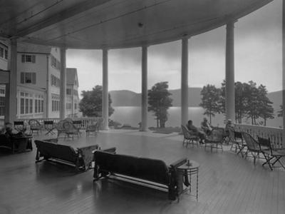 Sagamore Hotel Porch Overlooking Lake George